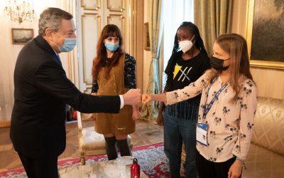 Youth4Climate: Greta Thunberg fa bla bla bla con Draghi.